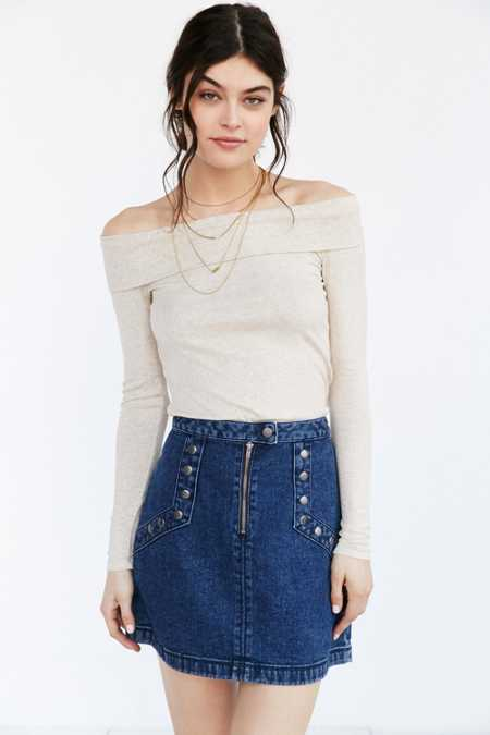 Hiatus Ribbed Off-The-Shoulder Top