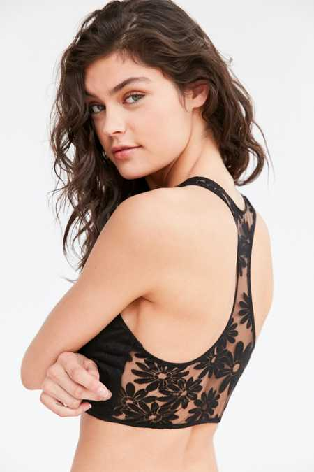 Out From Under Phoenix Floral Mesh Bra