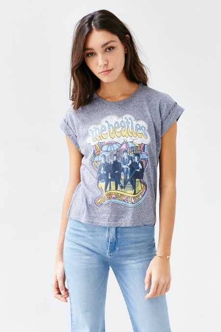 The Beatles Roll Cuff Tee