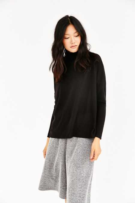 Silence + Noise Sam Cozy Mock-Neck Tunic Top