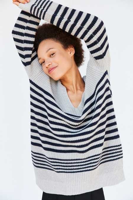 BDG Billie Stripe V-Neck Sweater
