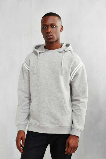 BDG Athletic Stripe Hoodie Sweatshirt
