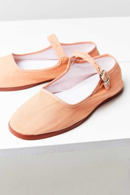 Cotton Mary Jane Flat