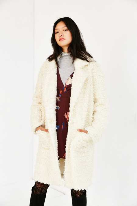 MINKPINK Obsessed Teddy Coat