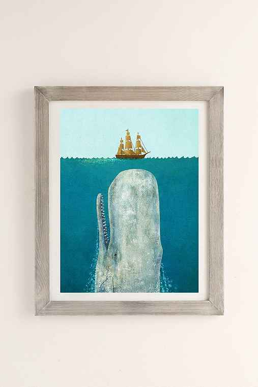 Terry Fan The Whale Art Print,GREY BARNWOOD,40 X 60