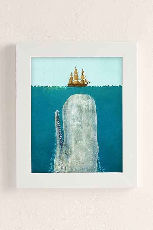 Terry Fan The Whale Art Print,WHITE MATTE FRAME,8X10