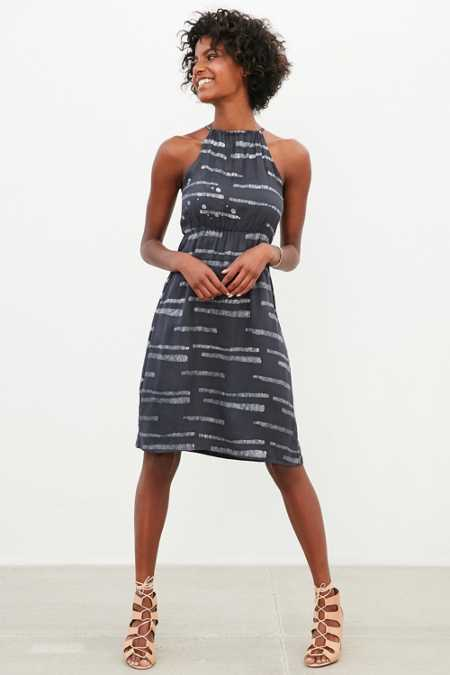 Della High-Neck Racerback Dress