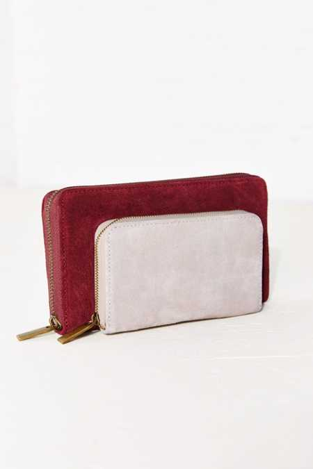 Cooperative Suede Double Pocket Wallet