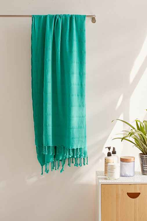 MAYDE Avalon Turkish Towel,TURQUOISE,ONE SIZE