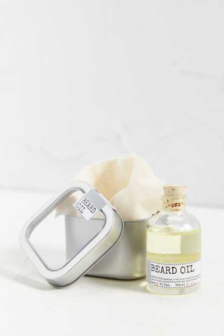 Men's Society Botanist Beard Oil + Face Rag Set