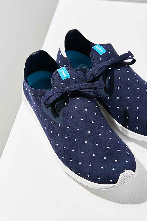 Native Embroidered Apollo Moc Sneaker,NAVY,W 8.5/M 6.5