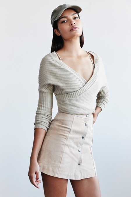 Out From Under Dancer Ribbed Wrap Sweater