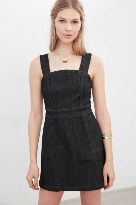 BDG Denim Apron Mini Dress