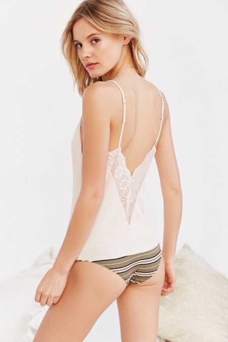Out From Under Embroidered Ribbed Cami