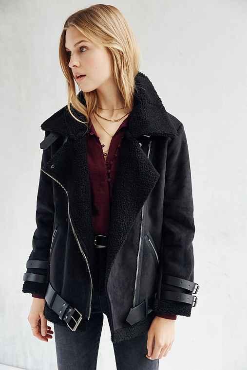 J.O.A. Sherpa Aviator Jacket - Urban Outfitters