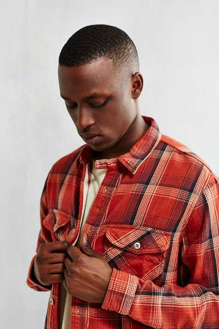 CPO Herringbone Plaid Button-Down Workshirt
