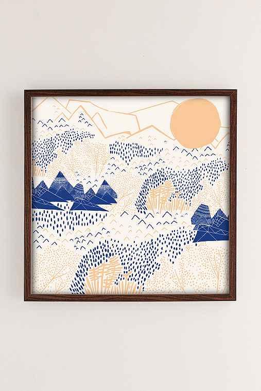 Leah Duncan Mountain Blossom Art Print,WALNUT WOOD FRAME,12X12