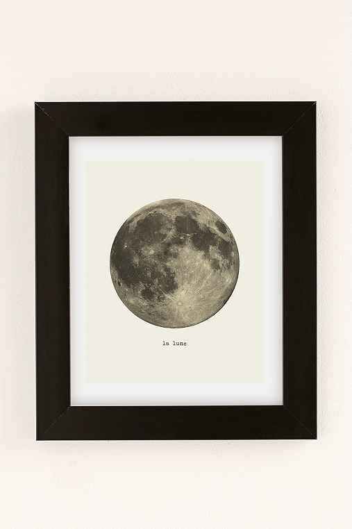 Merci Merci La Lune Art Print,BLACK MATTE FRAME,8X10