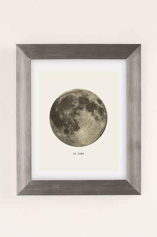 Merci Merci La Lune Art Print,SILVER MATTE FRAME,13X19