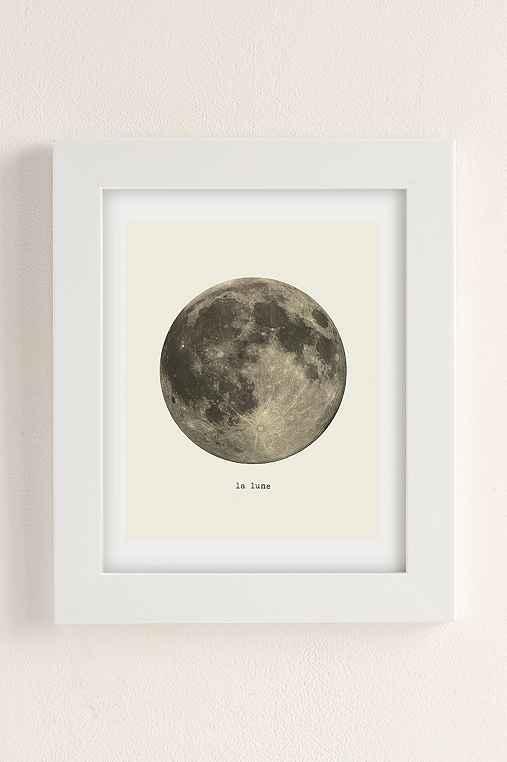 Merci Merci La Lune Art Print,WHITE MATTE FRAME,8X10