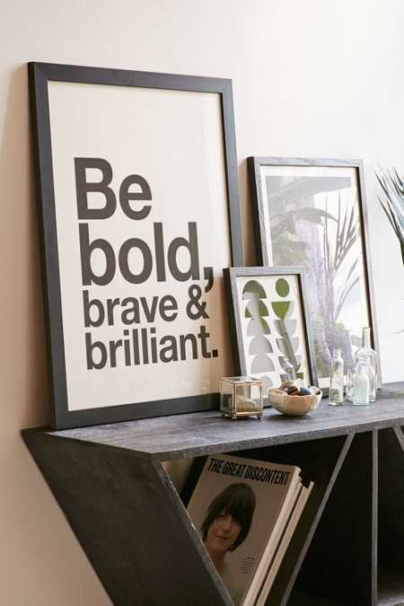AngelStar Forever Be Bold, Brave & Brilliant Art Print