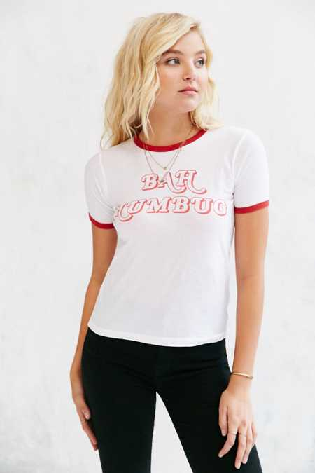 Truly Madly Deeply Bah Humbug Ringer Tee