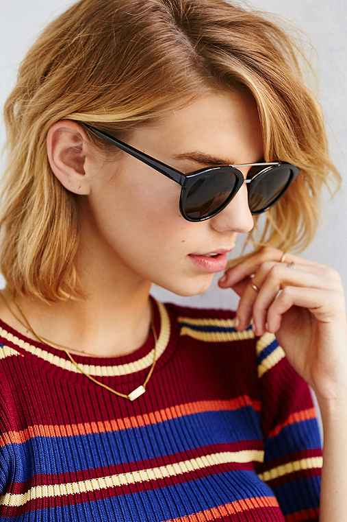 Sport Brow Bar Frame Sunglasses,BLACK,ONE SIZE