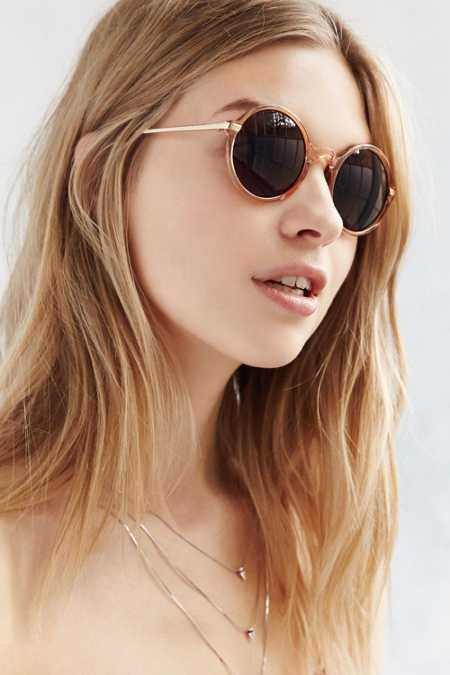 Glass House Circle Frame Sunglasses