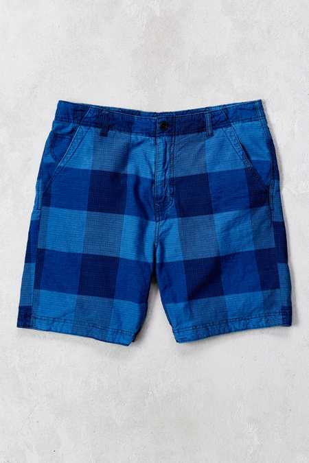 CPO Crosby Buffalo Plaid Indigo Chambray Short
