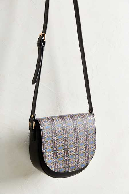 Cooperative Pattern Saddle Bag