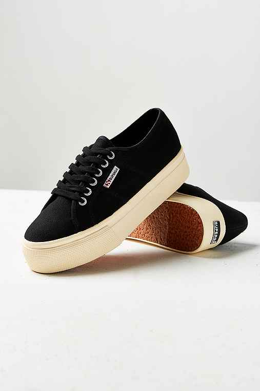 Superga 2790 Linea Platform Sneaker,BLACK,10