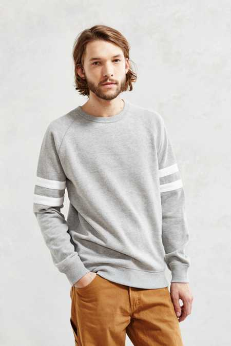 BDG Athletic Stripe Sweatshirt