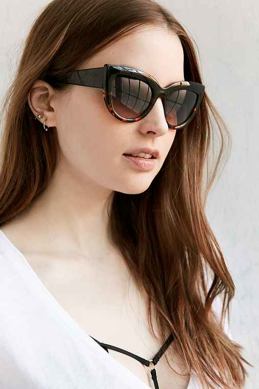 Colorfade Cat-Eye Sunglasses,BLACK MULTI,ONE SIZE