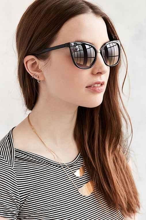 Marley Petite Cat-Eye Sunglasses,BLACK,ONE SIZE