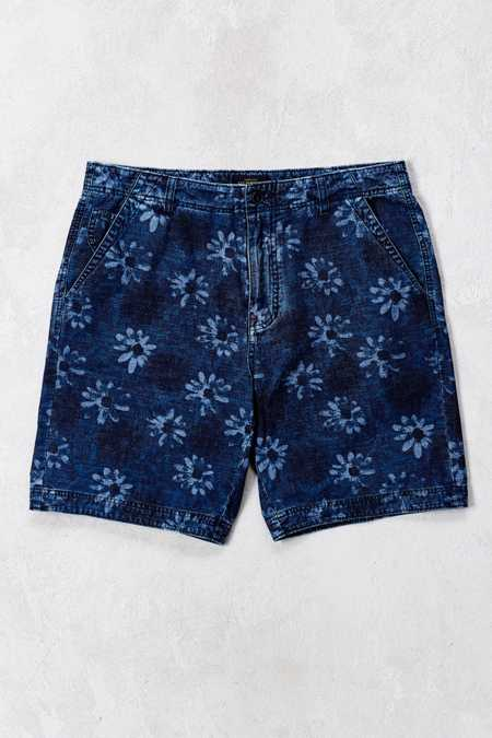CPO Crosby Floral Indigo Chambray Short