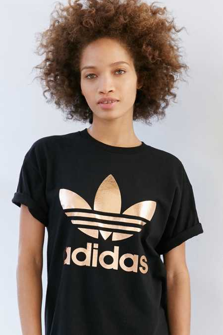 adidas Originals Rose Gold Dougle Logo Tee