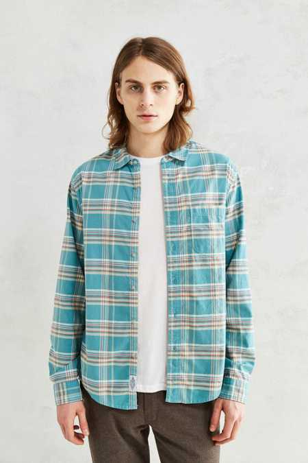 CPO Washed Plaid Dress Shirt