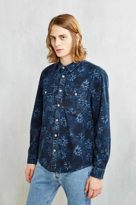 CPO Floral Crosshatch Workshirt