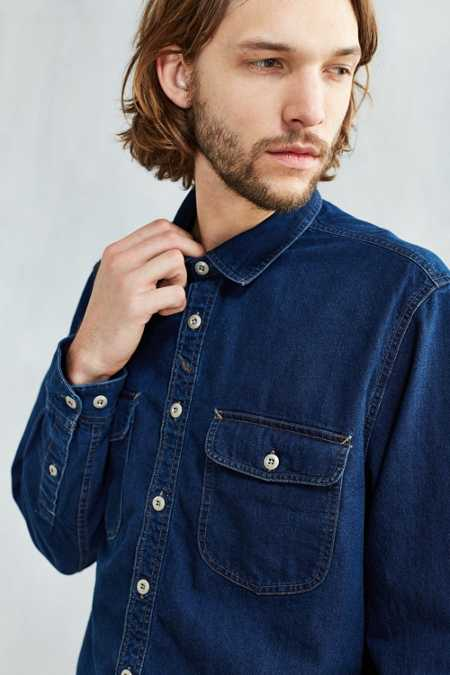 CPO Crepe Twill Denim Western Shirt