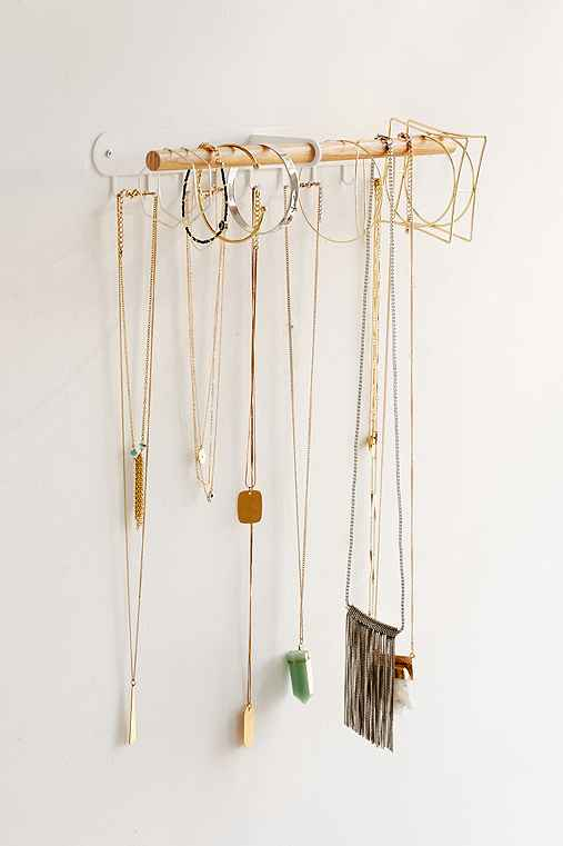 Minimal Hanging Jewelry Stand,WHITE,ONE SIZE