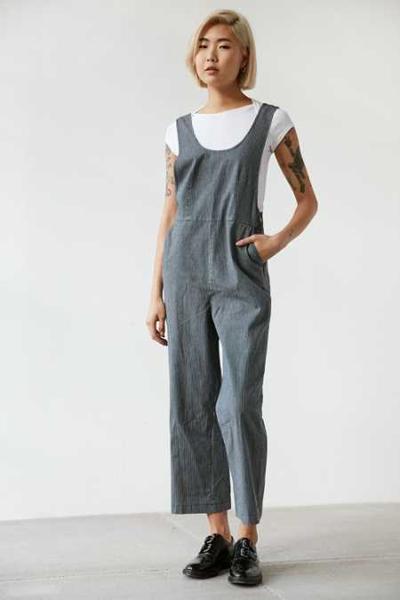 BDG Striped Overall Jumpsuit