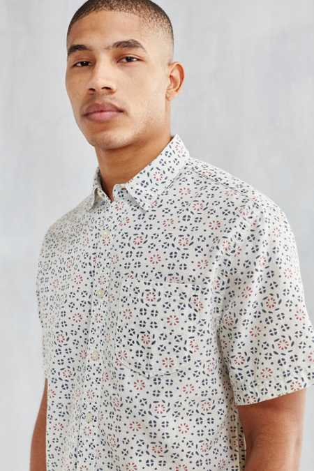 CPO Batik Print Short-Sleeve Button-Down Shirt