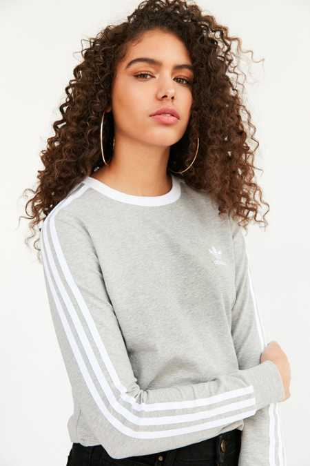 adidas Originals 3 Stripe Long-Sleeve Tee
