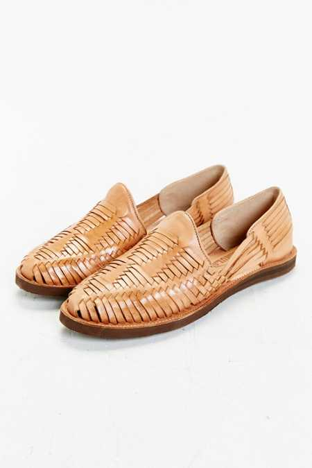 Chamula Huarache Woven Leather Shoe