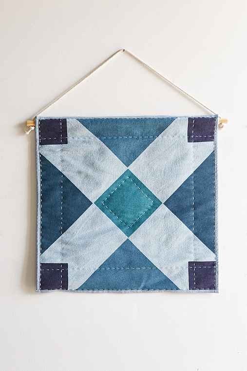 4040 Locust Ambrose Quilted Wall Hanging,INDIGO,ONE SIZE