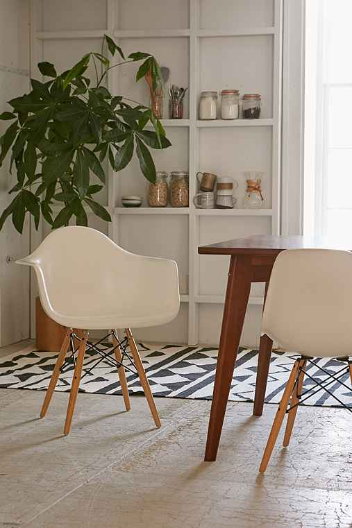 Modernica Dowel Arm Shell Chair,WHITE,ONE SIZE