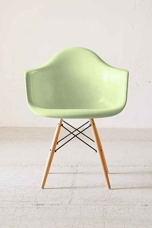 Modernica Dowel Arm Shell Chair,GREEN,ONE SIZE