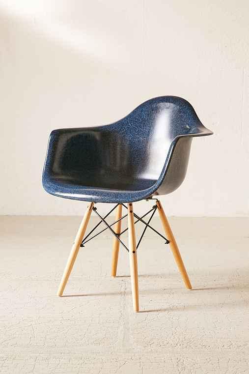Modernica Dowel Arm Shell Chair,BLUE,ONE SIZE