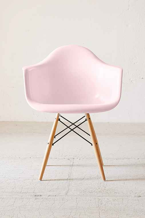 Modernica Dowel Arm Shell Chair,PINK,ONE SIZE