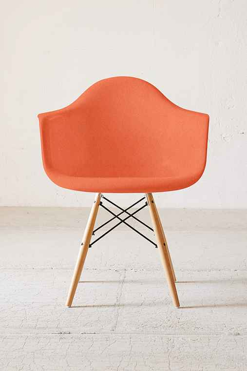 Modernica Dowel Arm Shell Chair,ORANGE,ONE SIZE